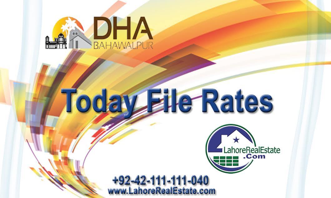 Files for Sale in DHA Bahawalpur -DHA Bahawalpur File rates updates - files prices