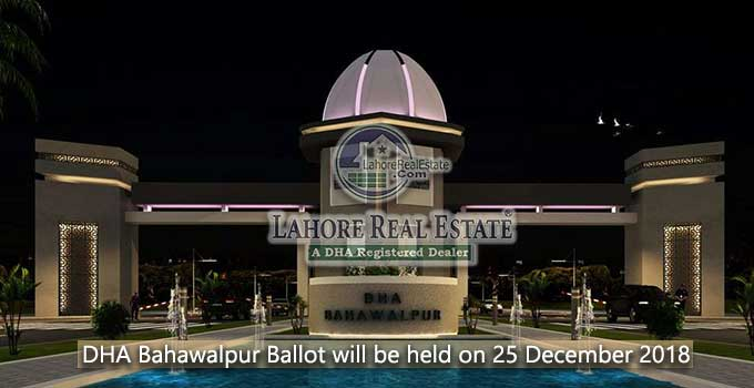 DHA Bahawalpur Balloting will be held on 2018