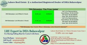 DHA Bahawalpur Files for sale by Lahore Real Estate 04 Sept
