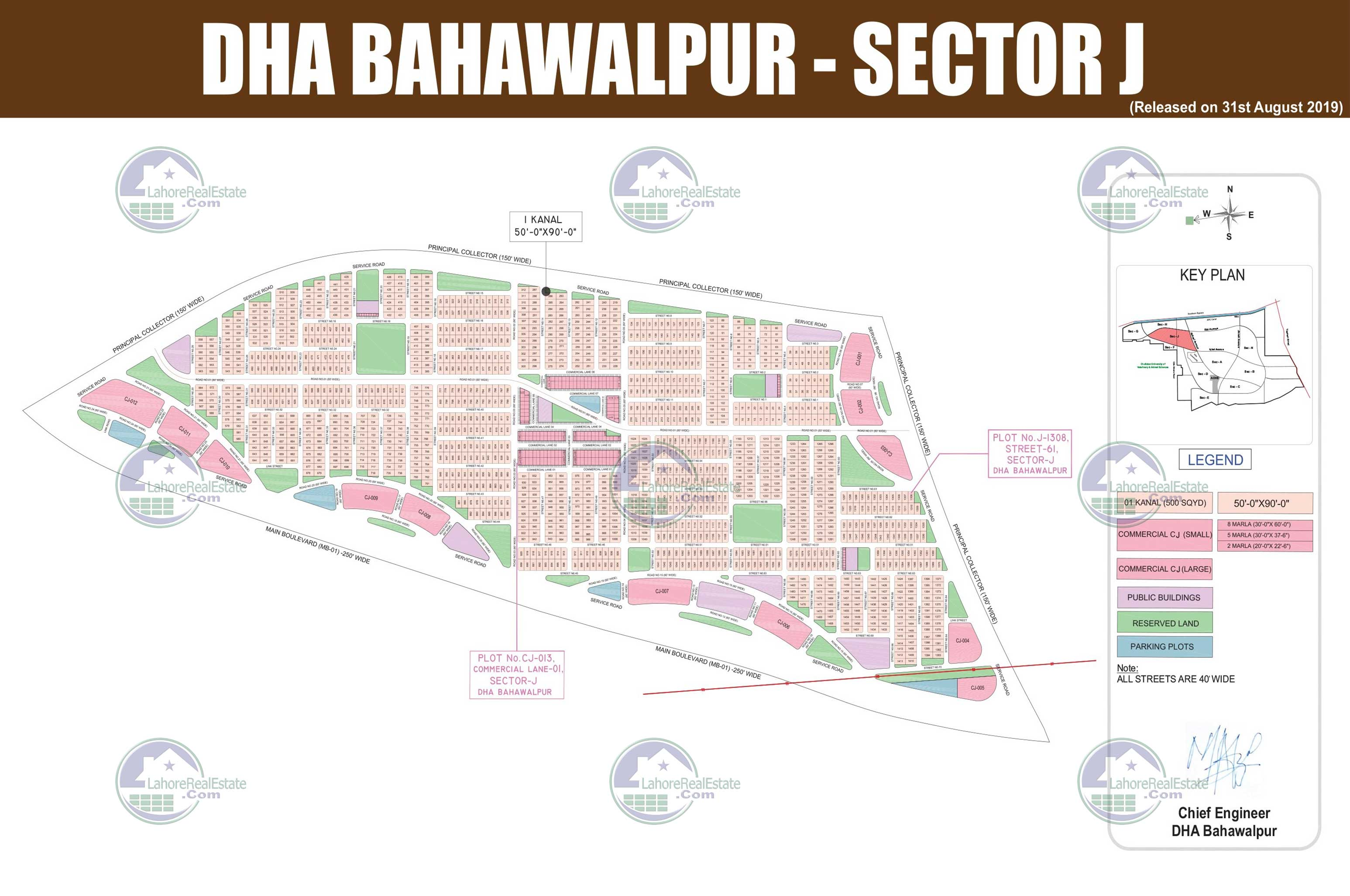 DHA Bahawalpur Sector J Map 2019 Download